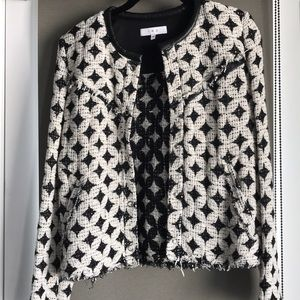Iro bouclé black/white jacket, 36